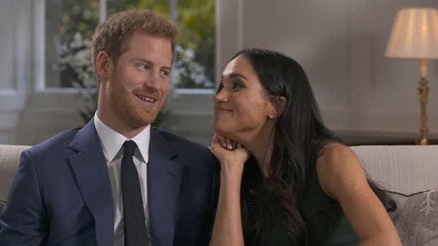 Behind-the-scenes of Royal engagement interview: Prince Harry and Meghan Markle joke around in previously unseen footage