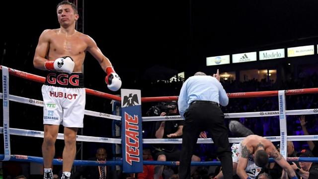 GGG ties Hopkins mark with KO of Martirosyan