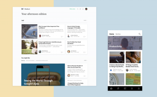Medium's existential makeover continues with a revamped homepage