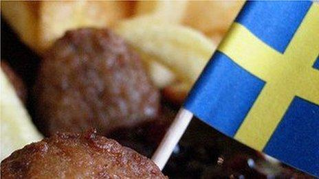 Massive meatball accident closes Swedish road