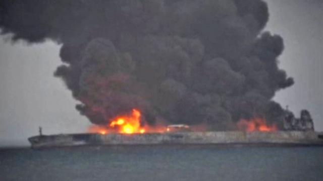 Sanchi: Oil tanker still burning off China coast