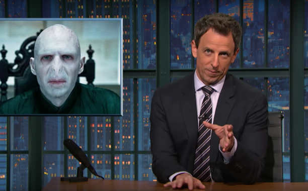 Seth Meyers Makes Case Against Trump, Compares Him to Voldemort